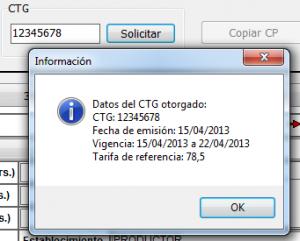 Datos del CTG