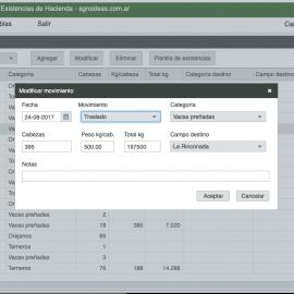 CuentaGanado, sistema de gestión de existencias de hacienda